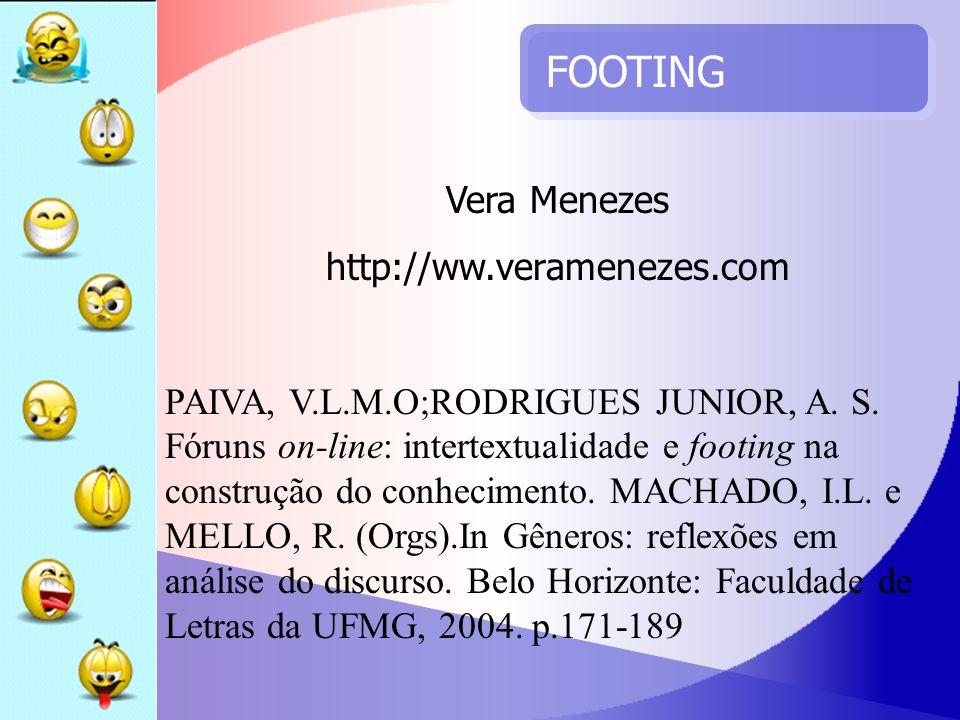 FOOTING Vera Menezes http://ww.veramenezes.com