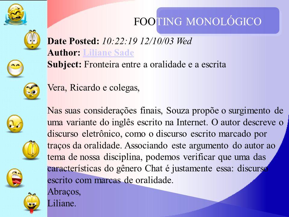 FOOTING MONOLÓGICO