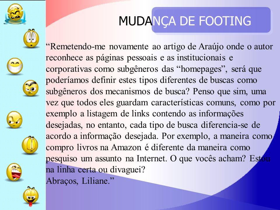 MUDANÇA DE FOOTING