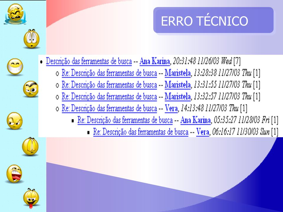 ERRO TÉCNICO