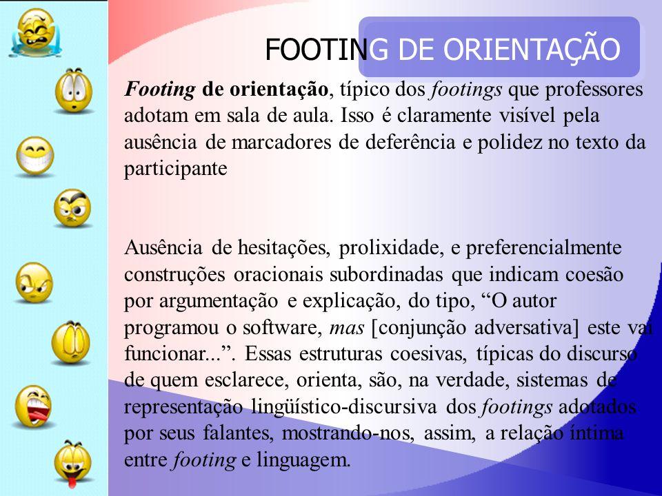 FOOTING DE ORIENTAÇÃO