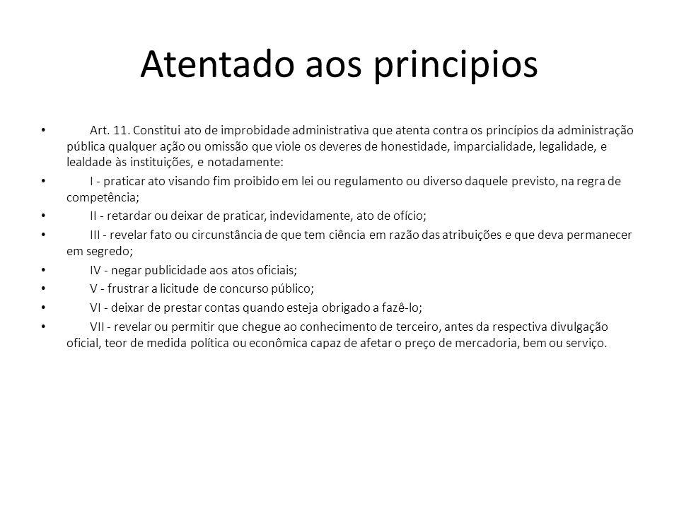 Atentado aos principios