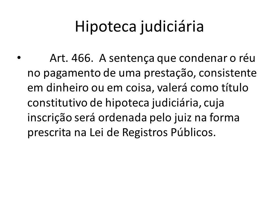 Hipoteca judiciária