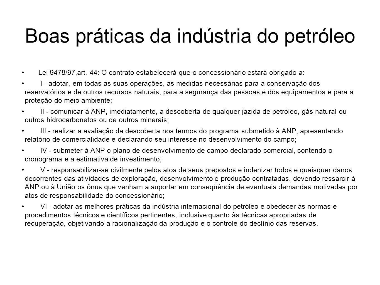 Boas práticas da indústria do petróleo