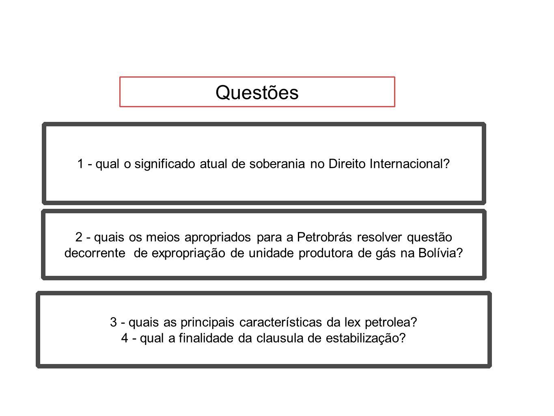 Questões 1 - qual o significado atual de soberania no Direito Internacional