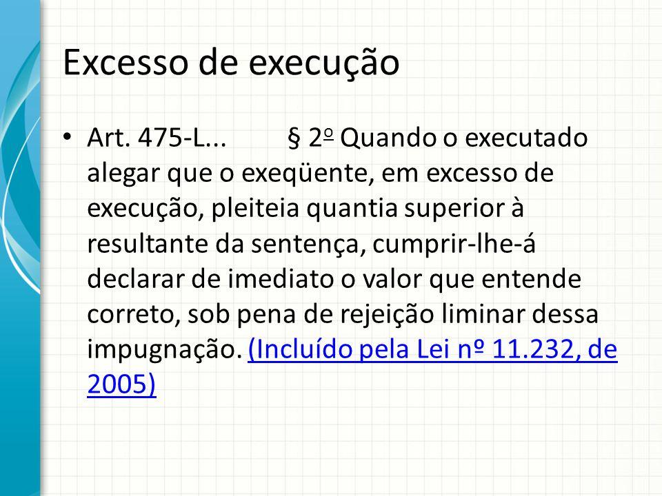 Excesso de execução