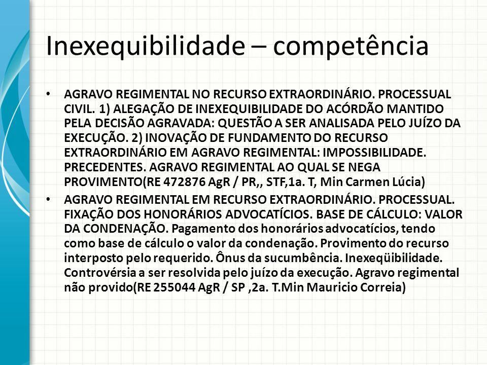 Inexequibilidade – competência