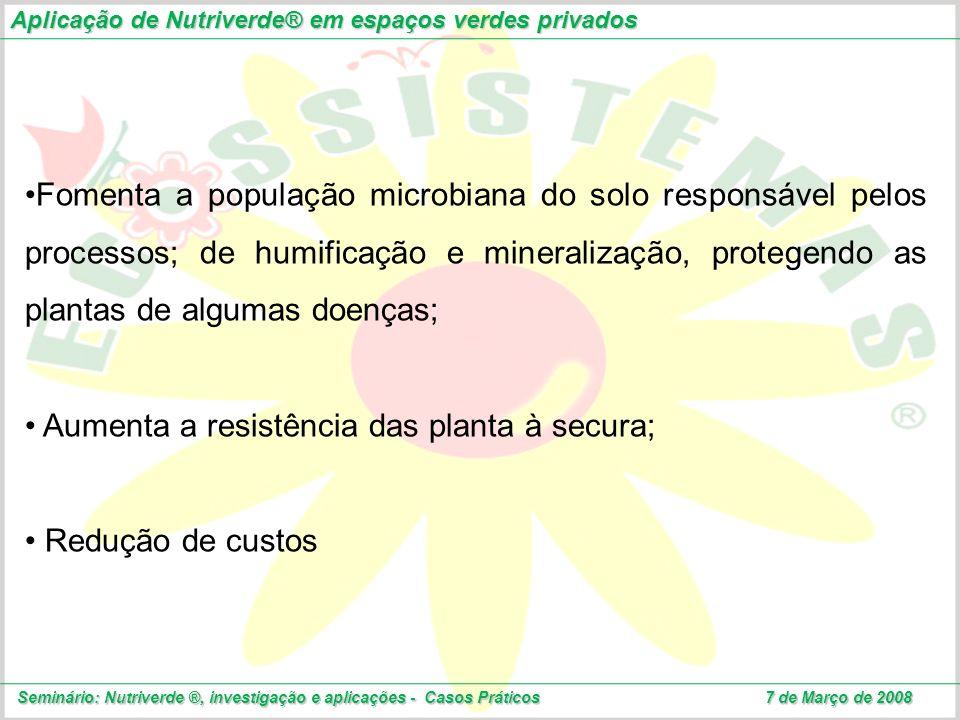 Aumenta a resistência das planta à secura;