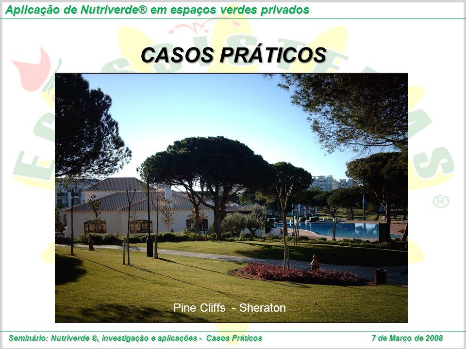 CASOS PRÁTICOS Aplicação de Nutriverde® em espaços verdes privados