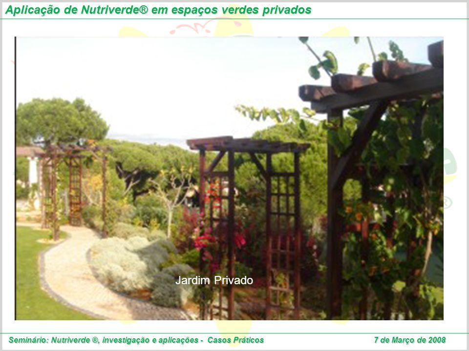 Aplicação de Nutriverde® em espaços verdes privados