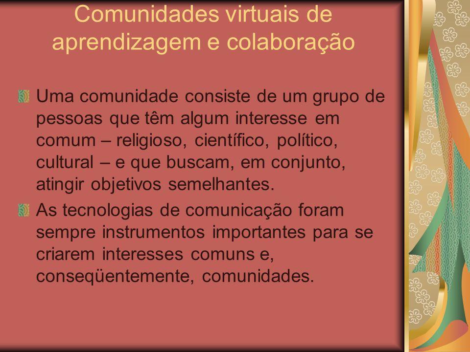 Comunidades virtuais de aprendizagem e colaboração