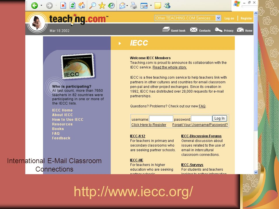 International E-Mail Classroom Connections