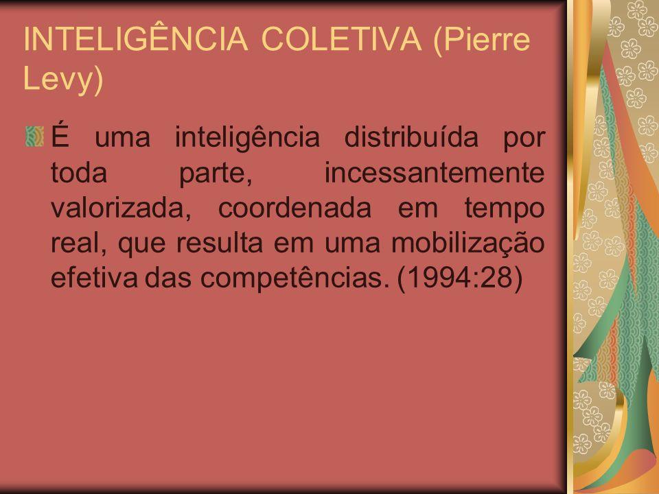 INTELIGÊNCIA COLETIVA (Pierre Levy)