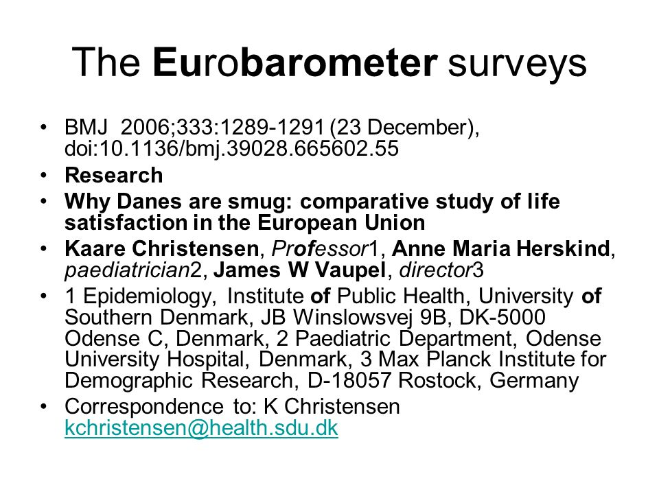 The Eurobarometer surveys