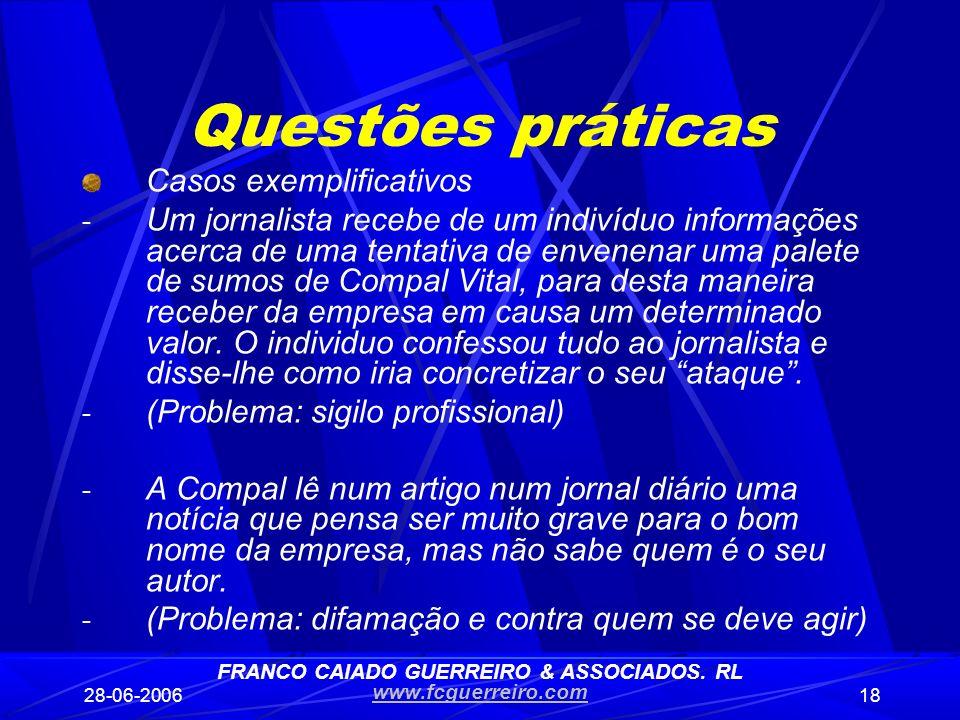 FRANCO CAIADO GUERREIRO & ASSOCIADOS. RL
