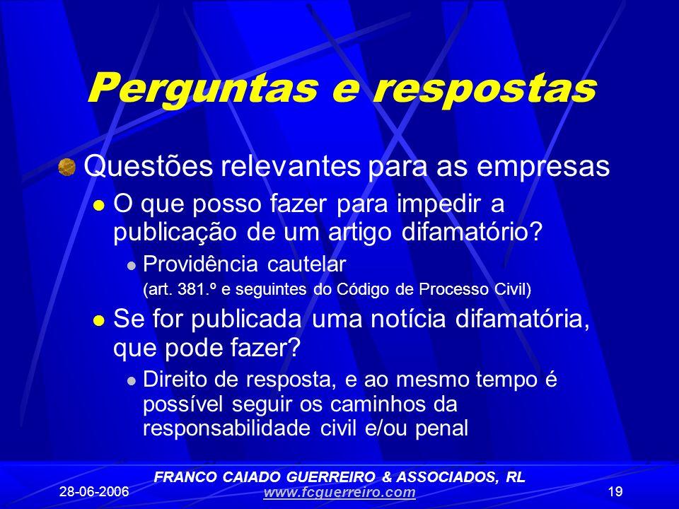 FRANCO CAIADO GUERREIRO & ASSOCIADOS, RL