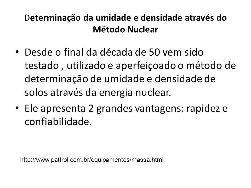 Determinação da umidade e densidade através do Método Nuclear
