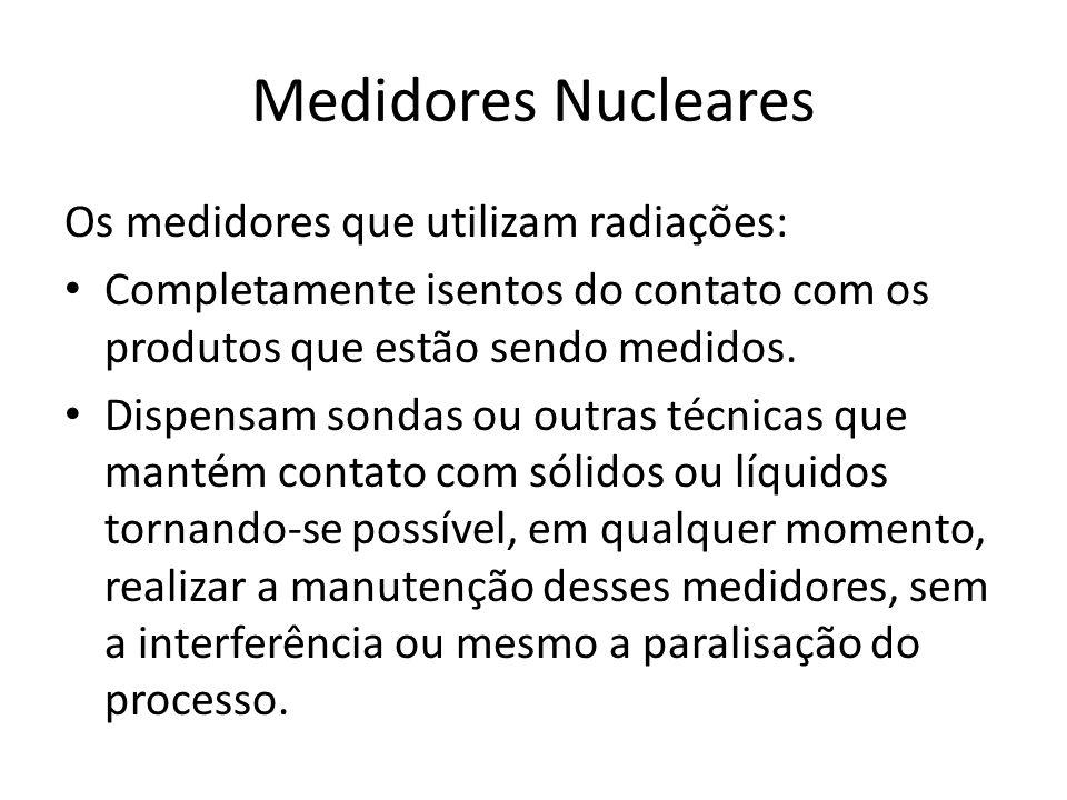 Medidores Nucleares Os medidores que utilizam radiações: