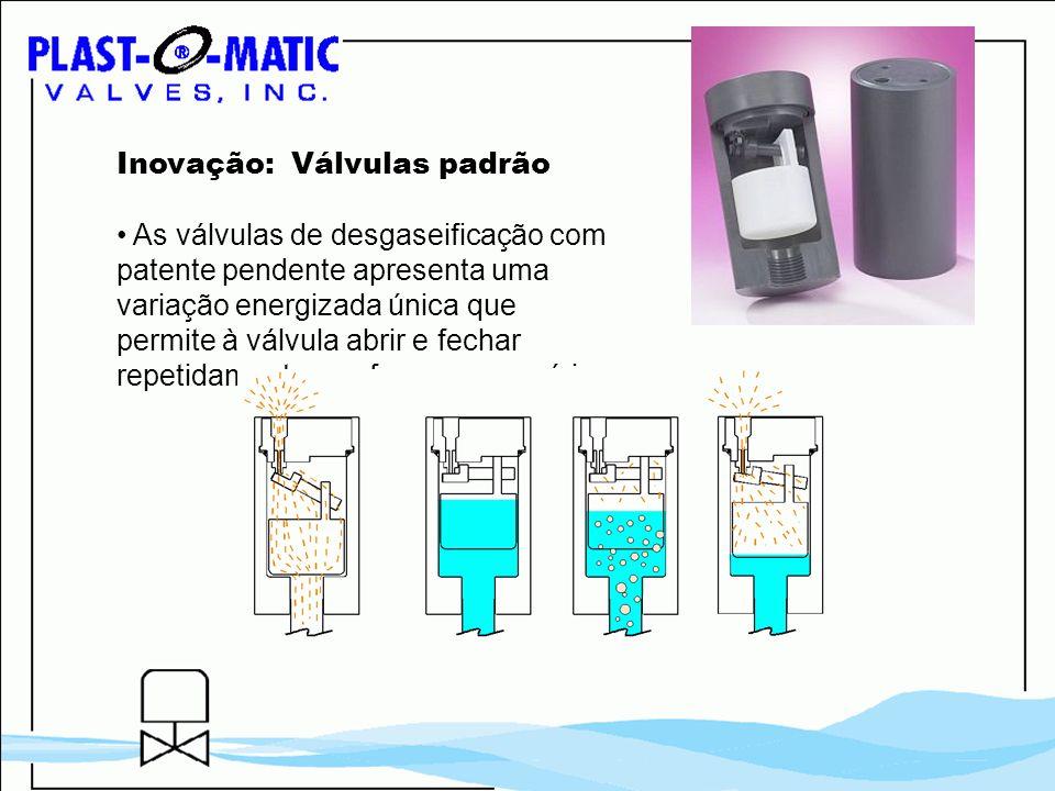 Inovação: Válvulas padrão