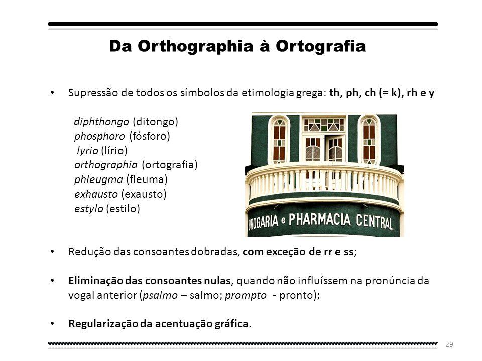 Da Orthographia à Ortografia