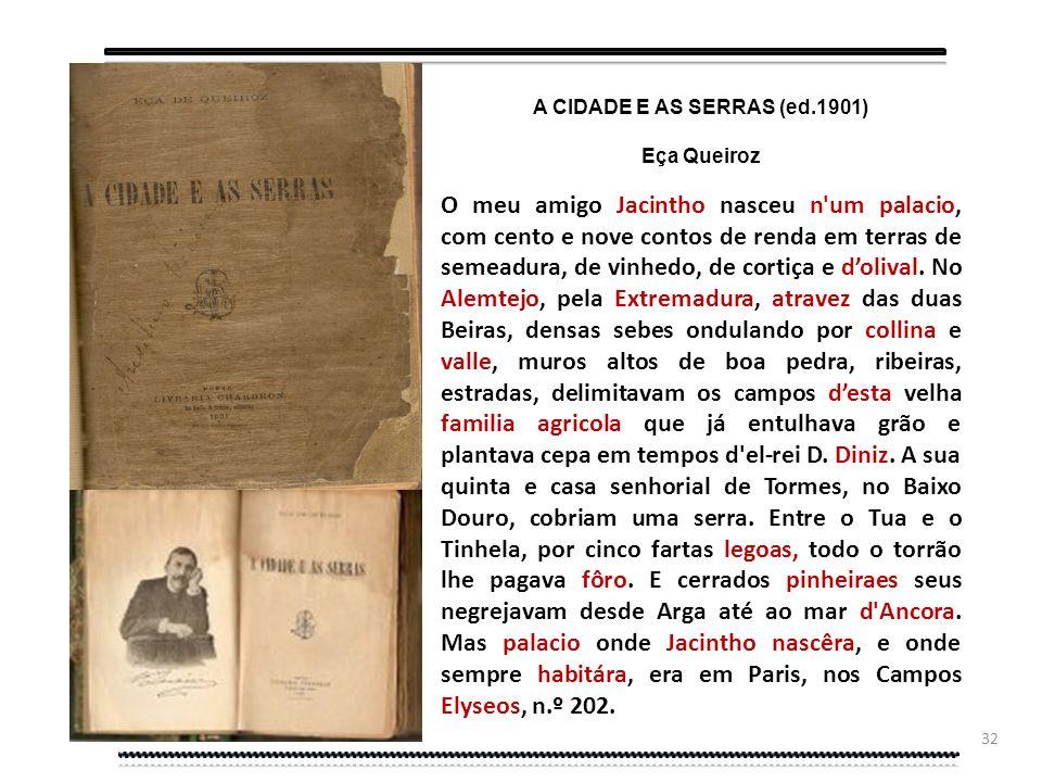 A CIDADE E AS SERRAS (ed.1901)
