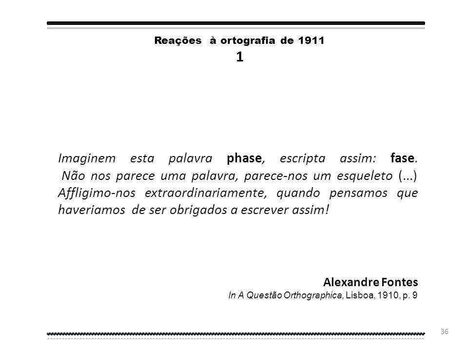 Reações à ortografia de 1911