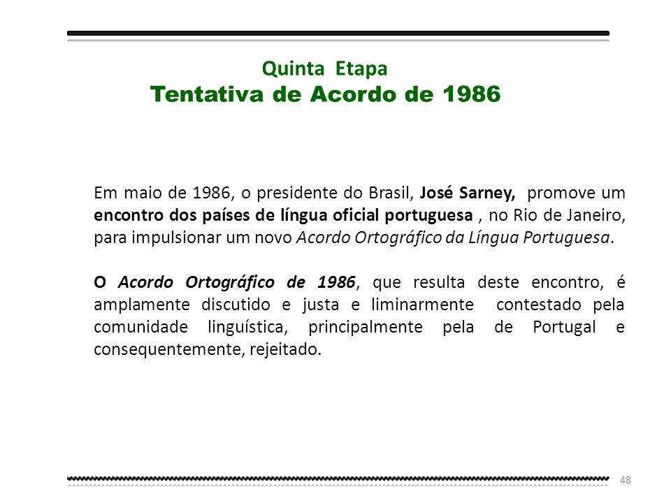 Quinta Etapa Tentativa de Acordo de 1986