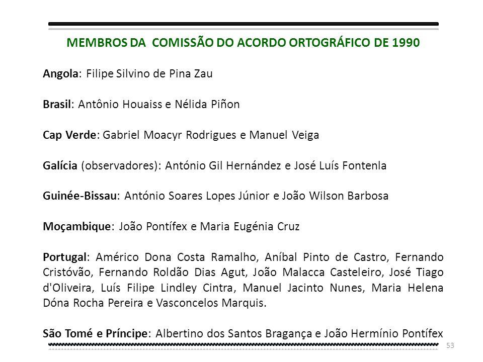 MEMBROS DA COMISSÃO DO ACORDO ORTOGRÁFICO DE 1990