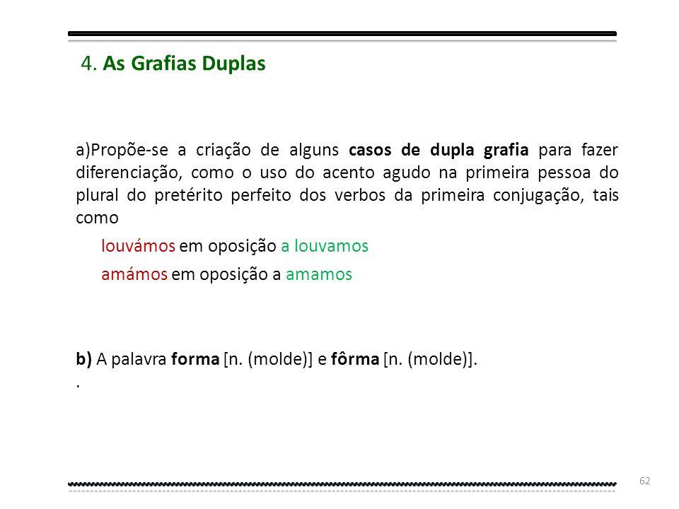 4. As Grafias Duplas