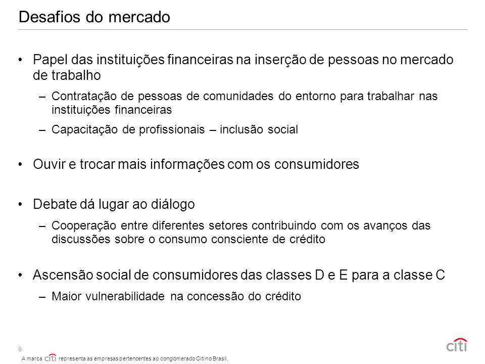 Desafios do mercado Papel das instituições financeiras na inserção de pessoas no mercado de trabalho.