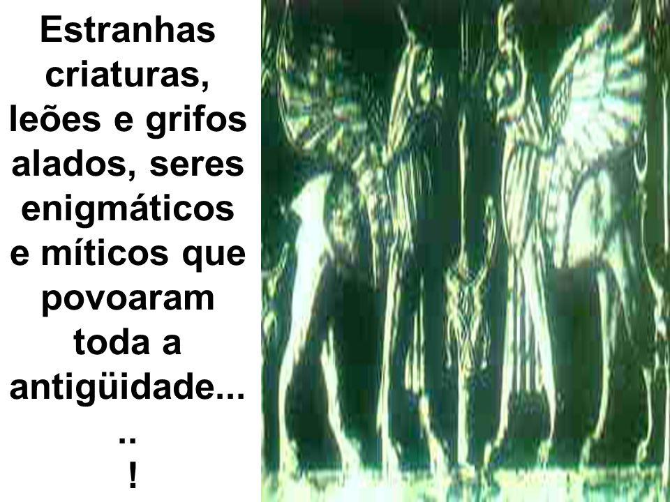 Estranhas criaturas, leões e grifos alados, seres enigmáticos e míticos que povoaram toda a antigüidade.....