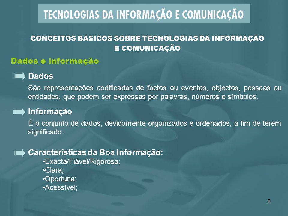 CONCEITOS BÁSICOS SOBRE TECNOLOGIAS DA INFORMAÇÃO E COMUNICAÇÃO