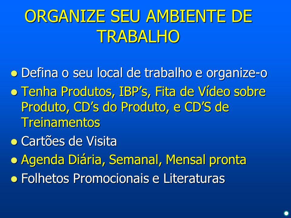 ORGANIZE SEU AMBIENTE DE TRABALHO
