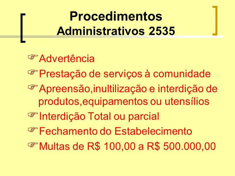 Procedimentos Administrativos 2535