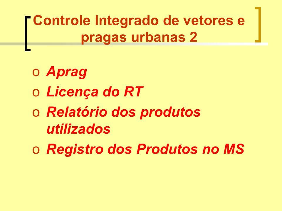 Controle Integrado de vetores e pragas urbanas 2