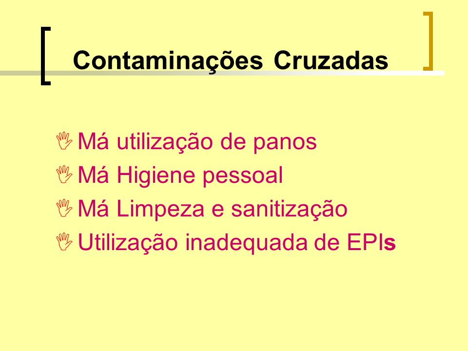 Contaminações Cruzadas