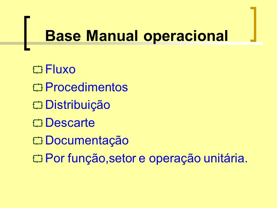 Base Manual operacional