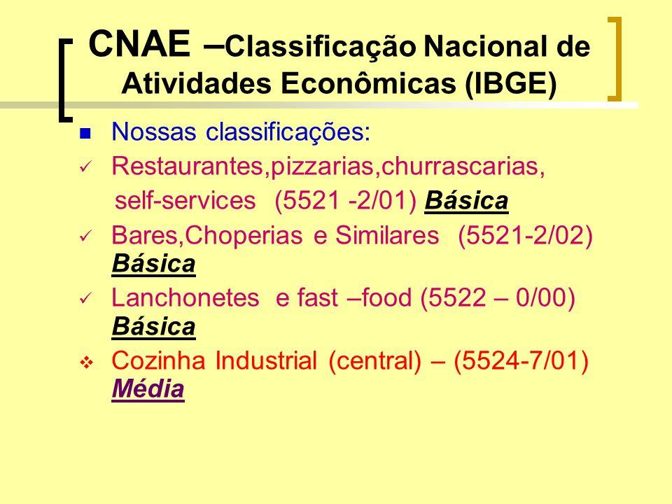 CNAE –Classificação Nacional de Atividades Econômicas (IBGE)