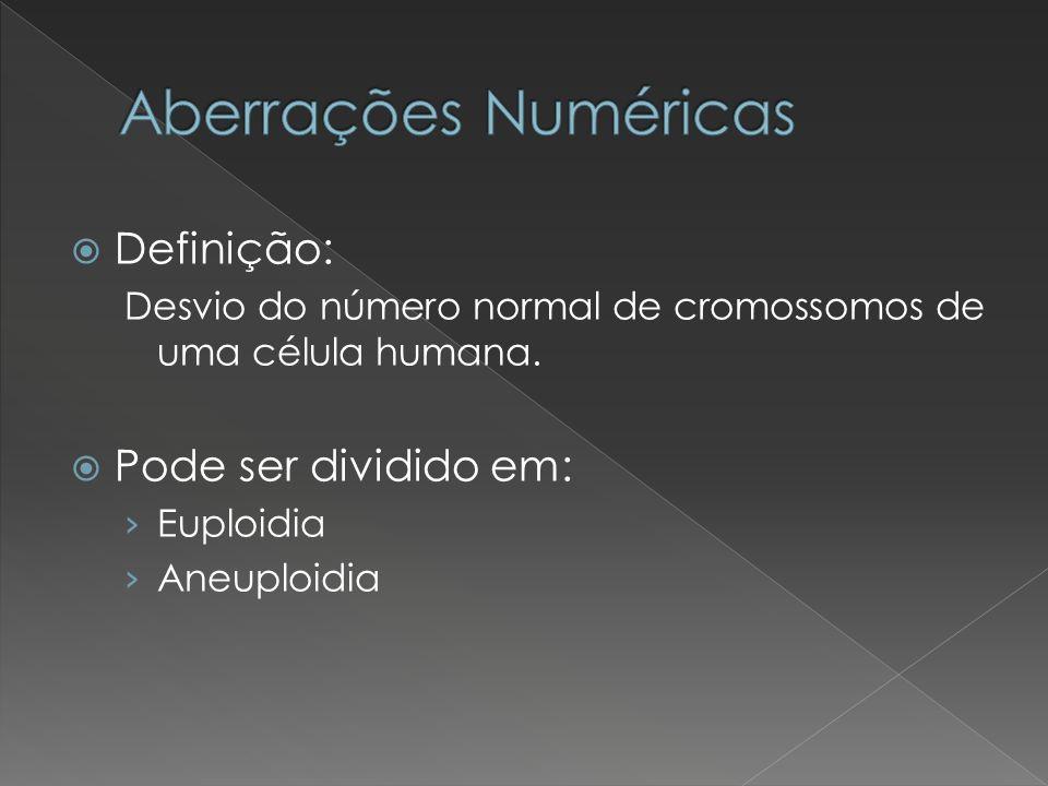 Aberrações Numéricas Definição: Pode ser dividido em: