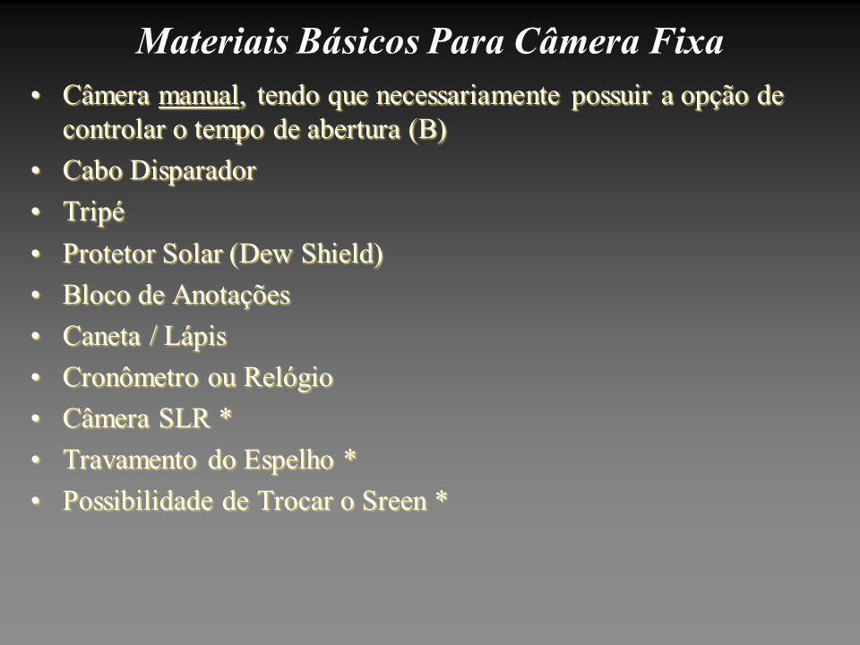 Materiais Básicos Para Câmera Fixa