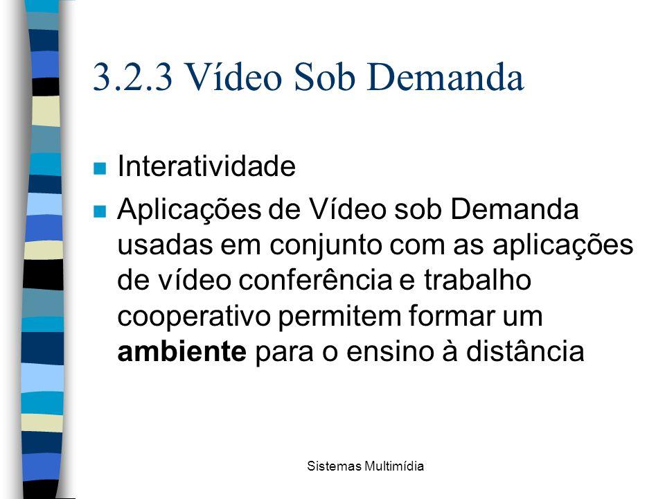 3.2.3 Vídeo Sob Demanda Interatividade
