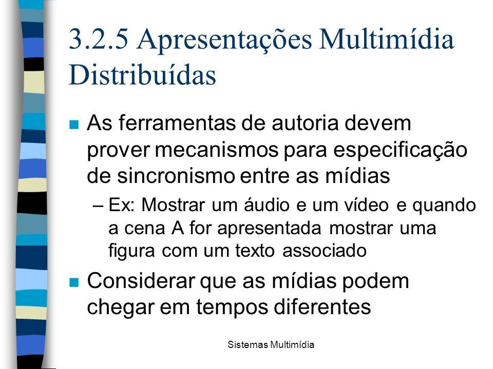 3.2.5 Apresentações Multimídia Distribuídas