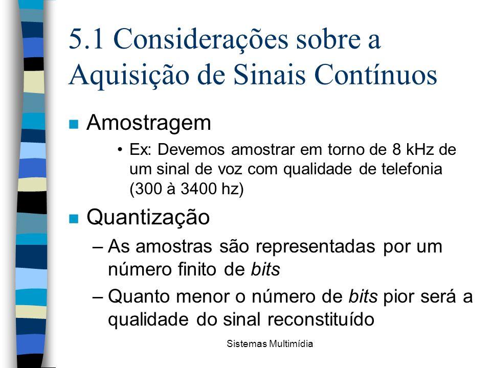 5.1 Considerações sobre a Aquisição de Sinais Contínuos