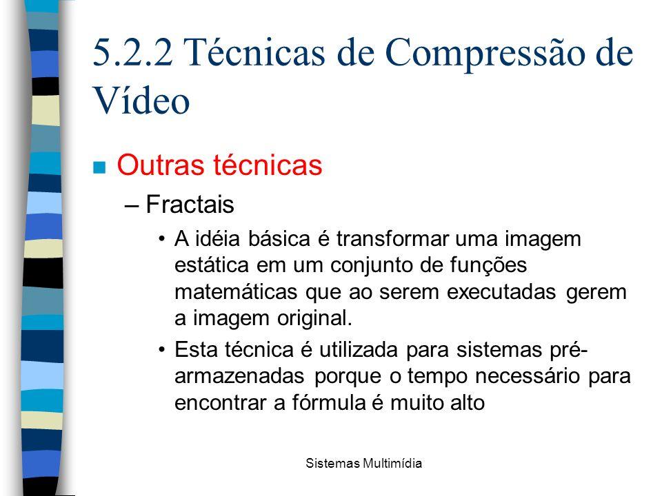 5.2.2 Técnicas de Compressão de Vídeo