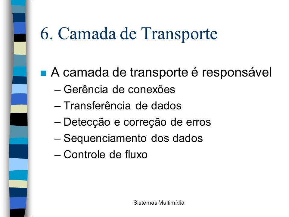 6. Camada de Transporte A camada de transporte é responsável