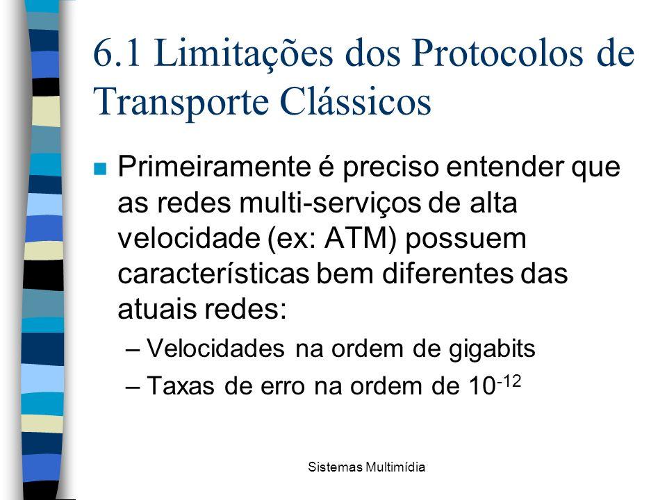 6.1 Limitações dos Protocolos de Transporte Clássicos
