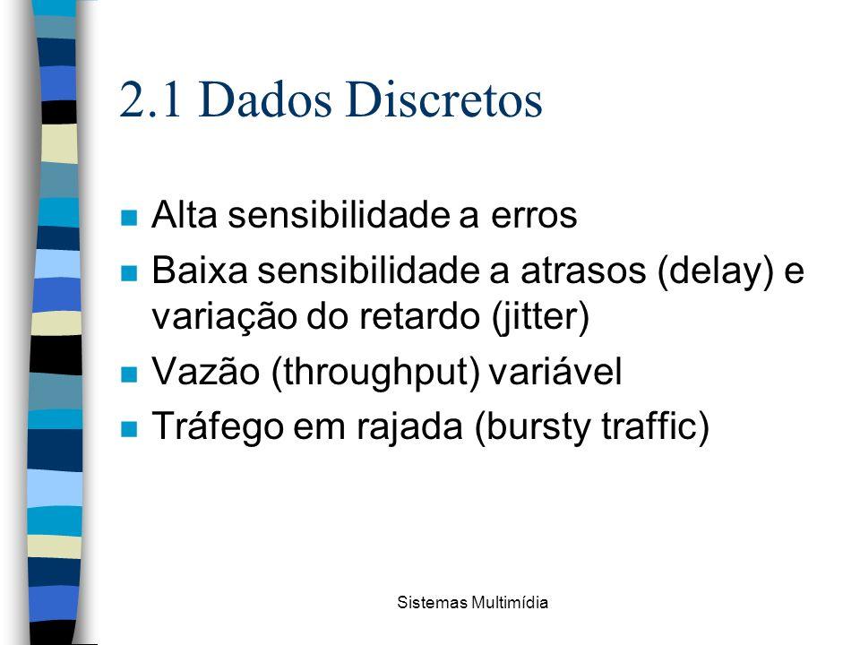 2.1 Dados Discretos Alta sensibilidade a erros