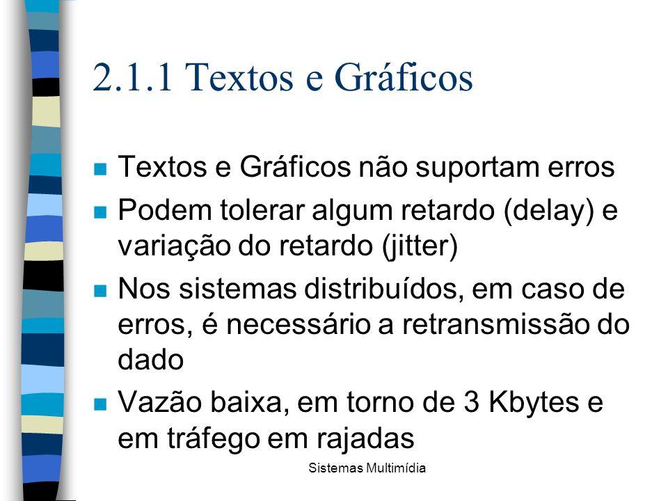 2.1.1 Textos e Gráficos Textos e Gráficos não suportam erros