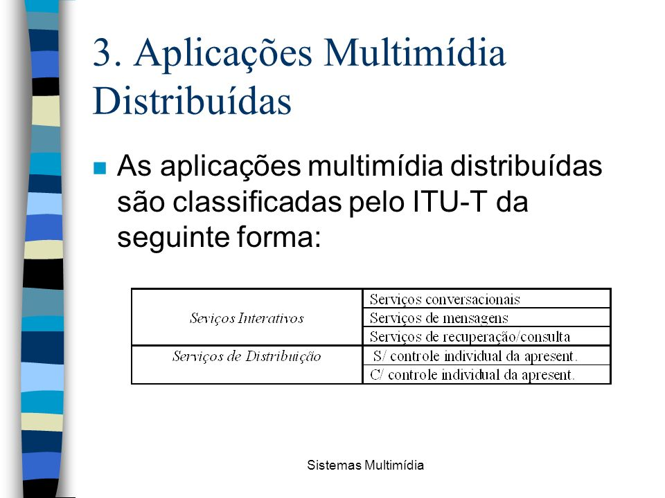 3. Aplicações Multimídia Distribuídas