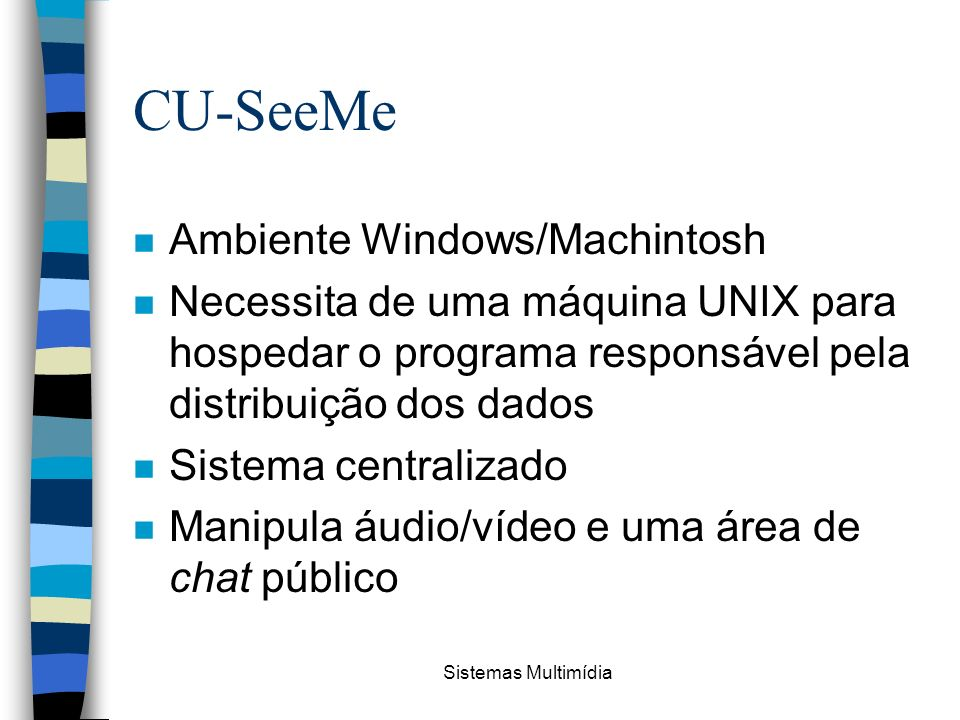 CU-SeeMe Ambiente Windows/Machintosh